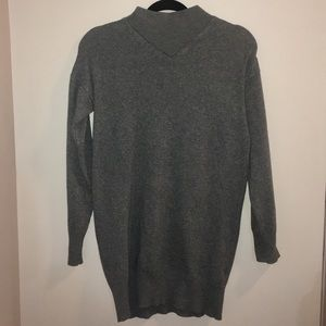 Topshop Mock Neck Dark Grey Sweater